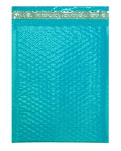 """Size #2 8.5""""x11"""" Teal Color Poly Bubble Mailers with Peel-N-Seal"""