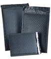 """Size #000 4.25""""x7"""" Black Color Poly Bubble Mailers with Peel-N-Seal"""
