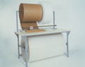 Holds up to 40″ diameter roll above table and up to 32″ diameter roll beneath table