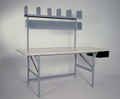 Standard Packing Shipping Compact Work Table with Drawer, (STORAGE SHELVES ARE NOT INCLUDED IN THIS LISTING)