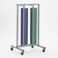 Double Vertical Paper Roll Rack Storage Dispenser and Cutter