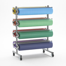 8 Roll Horizontal Art Paper Dispenser Cutter Rola-Rack  - Bulletin Board Paper Holder