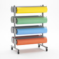 8 Roll Horizontal Art Paper Dispenser Cutter Rola-Rack - Bulletin Board Paper Holder