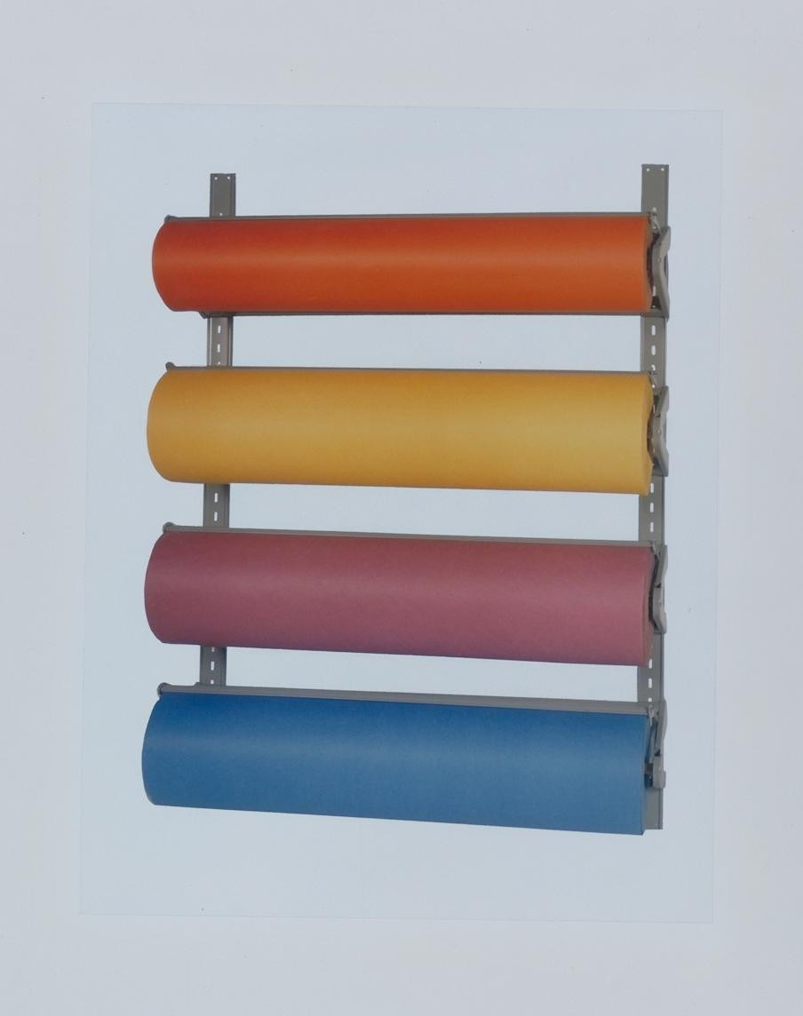 Multiple Roll Wall Rack Bulletin Board Paper Roll Cutter Dispenser