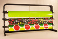 Under Counter Mount Gift Wrapping Paper and Cellophane Basket Wrap Storage Dispenser Cutter Organizer Rack