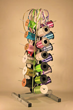 Tree Stand Dispenser holds 24 spools of gift wrapping Curling Ribbon