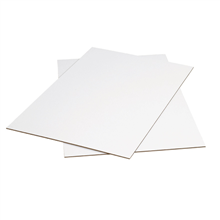 "42"" x 42"" White Corrugated Sheets 5/Bundle"