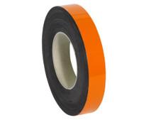 "1"" x 100' Orange Magnetic Warehouse Label Rolls"