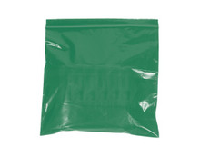 "12"" x 15"" - 2 Mil Green Reclosable Poly Bags"