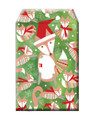 Christmas Theme Festive Fox Decorative Tyvek Sendables Foam Padded Gift Shipping Envelopes