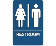 "9"" x 6"" ""Men/Women Restroom"" Universal ADA Compliant Signage and Graphics"