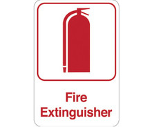 "9"" x 6"" ""Fire Extinguisher"" Universal Instructional Facility Sign and Graphics"