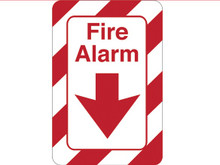 """9"""" x 6"""" """"Fire Alarm"""" Universal Instructional Facility Sign"""