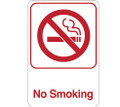 "9"" x 6"" ""No Smoking"" Universal Instructional Facility Sign and Graphics"