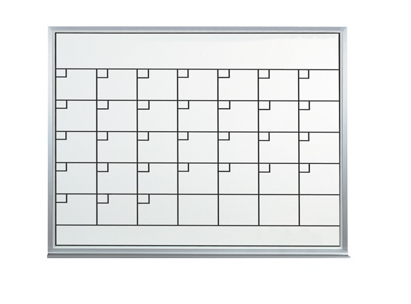 3' X 2' Dry Erase Whiteboard 1 Month Calendar Planner