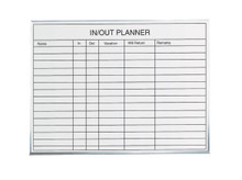 3' x 2' In/Out Staff Dry Erase Tracking Board
