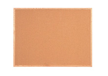 "3' x 2' Self-Sealing Natural Cork Board, Solid Hardwood Frame with Light Oak Finish 3/4"" Thick"