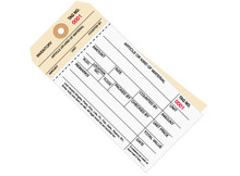 """6 1/4"""" x 3 1/8"""" 2 Part Stub Style Inventory Tags Carbonless (4500-4999), 10 Point Manila Card Stock"""