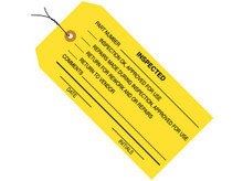 "4 3/4"" x 2 3/8"" Pre-Wired ""Inspected"" (Yellow)"" Inspection Tags 13 Point Construction"
