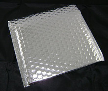 "Silver Shiny Metallic Bubble Envelope Mailer 12 3/4"" x 10 1/2"""