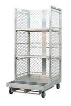 Forklift Order Picking Cart for Warehouse Fulfillment - 2 Shelves
