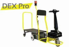 Dex Pro Powered Standing Platform Industrial Material Handling Cart Pictured with (Optional Safety Strobe Light).