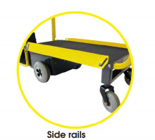 The Steel Side Rail attaches to the platform for added security when moving items.