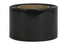 "5"" Black Stretch Wrap Bundling Plastic Film"