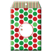 "Christmas Themed Decorative Tyvek Sendables Gift Shipping Envelopes ""Jolly"""