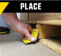 Place the device next to the pallet you need secured. Ensuring the teeth are facing the floor and the pallet.