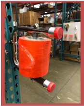 YEP-765 Stretch Wrap Bundling Dispenser with Pallet Rack Mounting Attachment