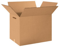 """18"""" x 12"""" x 12"""" (275#DW/ECT-48) Heavy-Duty Double Wall Kraft Corrugated Cardboard Shipping Boxes with Hand Holes."""