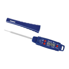 Snap the protective probe sheath onto the end of the thermometer to extend its reach.