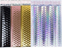 Metallic Self Seal Bubble Mailers Envelopes. Gold, Holographic, and Rose Gold Foil Bubble Mailers.