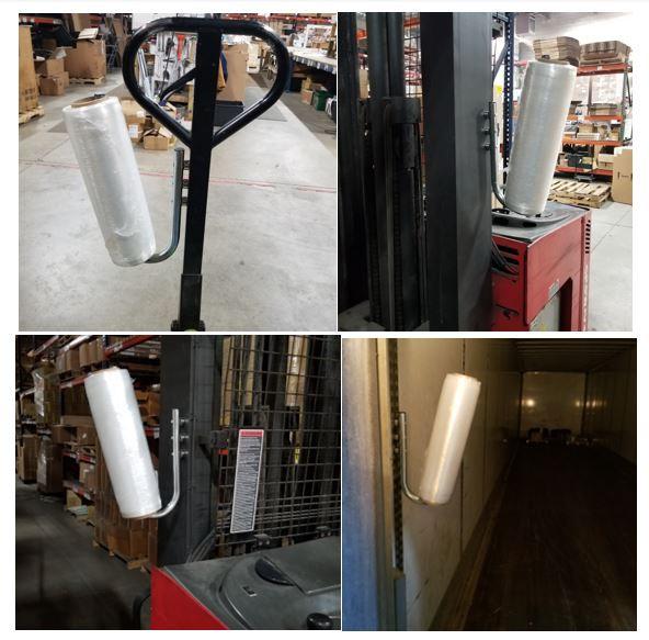 Magnetic Stretch Film Holder for Forklift, Pallet Jack, Metal Shelving,  Warehouse