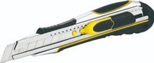Retractable & Self Retracting Heavy Duty Snap-off Safety Knife with Ergonomic Rubber Grip Handle