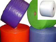 """3/16"""" Small Bubble Wrap® Perforated every 12"""". Available in Blue, Lime Green, Purple, Red and Clear."""