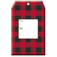 "Christmas Theme ""Buffalo Plaid"" Decorative Tyvek Sendables Gift Shipping Envelopes"