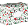 "12"" x 9"" x 6"" ""Christmas Town"" Decorative Gift Shipping Mailing Boxes"