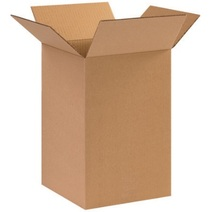 "10"" x 10"" x 16""(200#/ECT-32) Kraft Corrugated Cardboard Shipping Boxes"