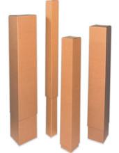 "12"" x 4"" x 48"" (200#/ECT-32) Telescoping Inner Box. Kraft Corrugated Cardboard Shipping Boxes"