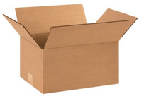"12 1/4"" x 9 1/4"" x 6"" (200#/ECT-32) Kraft Corrugated Cardboard Shipping Boxes"