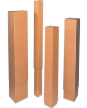 """12 1/2"""" x 4 1/2"""" x 48"""" 200#/ECT-32 Telescoping Outer Box. Kraft Corrugated Cardboard Shipping Boxes"""