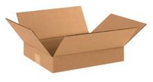 "13"" x 11"" x 2"" (200#/ECT-32) Flat Kraft Corrugated Cardboard Shipping Boxes"