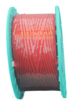 Red Plastic/Plastic Non-Metal Twist Tie Ribbon. For use with Fully Automated Twist Tie Machinery.