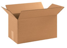 "17"" x 7"" x 7"" (200#/ECT-32) Long Kraft Corrugated Cardboard Shipping Boxes"