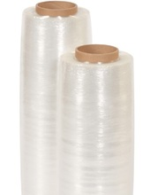 "Clear Stretch Wrap Film Plastic Pallet Wrap - 17.2"" x 1500' 38 Gauge"