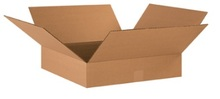 "18"" x 18"" x 3"" (200#/ECT-32) Flat Kraft Corrugated Cardboard Shipping Boxes"