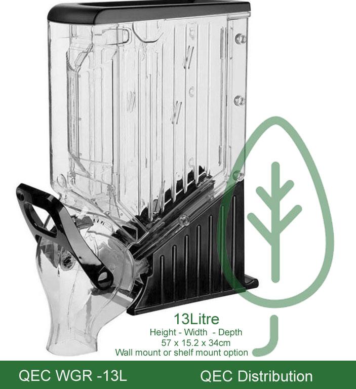 Gravity Food Dispenser Wide 13L - WGR-13L