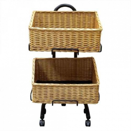 Wicker Basket Stand Set | Rectangle | Dry Food | Vegetables | Dog Treats | Displays crates | packing Crate